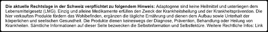 Zimmerli Adaptogene - Rechtslage Schweiz