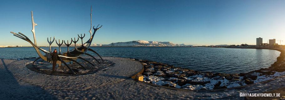 island,winter,reykjavik,reisetipps,tipps,februar,zwei,wochen,solvar,sonnenfahrt,skulptur,hafen,meer
