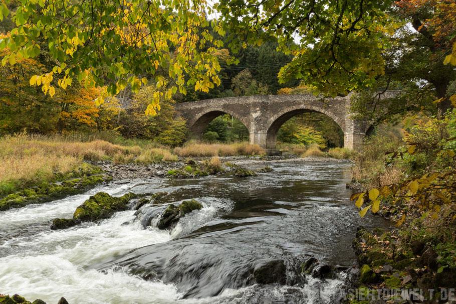 Schottland,Brücke,Fluss,Herbst,Oktober
