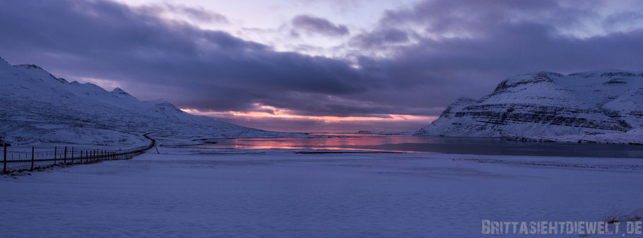 sunrise,Iceland,south,east,coast,winter,february,tipps,fjord,panorama