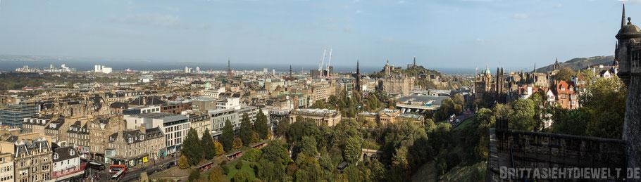 Edinburgh,castle,schottland,herbst,oktober,tipps,sehenswürdigkeiten,schloss,Panorama,Aussicht,view,Carlton,hill