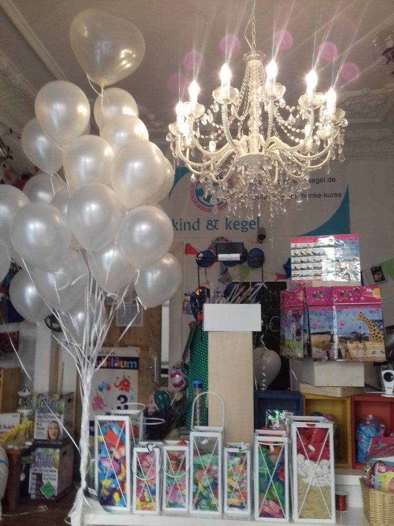 Hochzeitsballon weiss glänzend