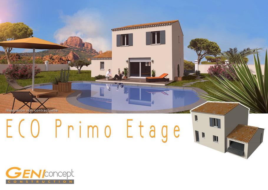 plaquette commerciale et image en 3D pour constructeur de maison individuelle, région PACA