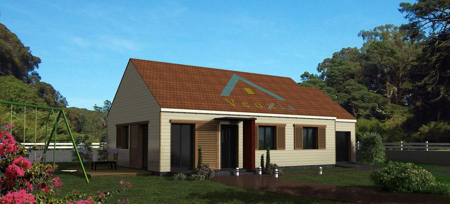 Promotion immobilière, illustration en 3D