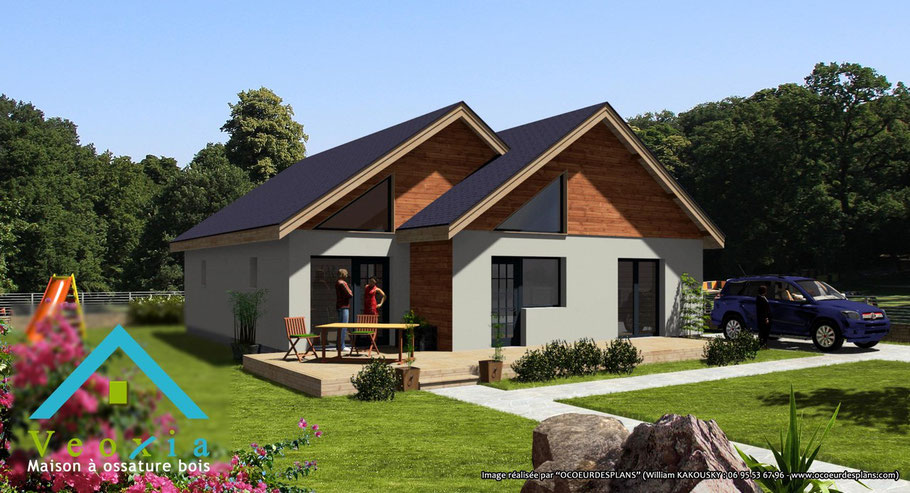 Illustration 3D constructeur de maison