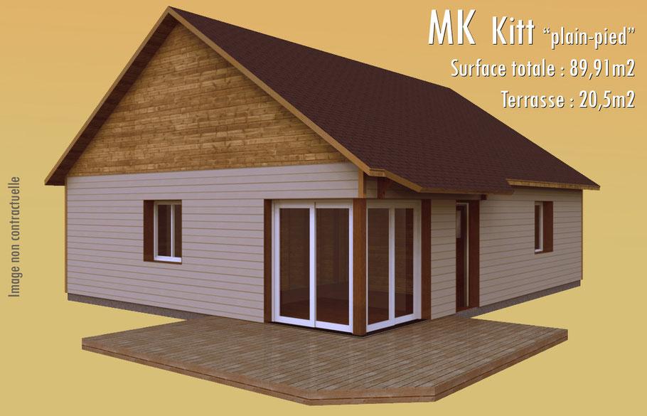Maison en ossature bois réalisation en 3D, catalogue