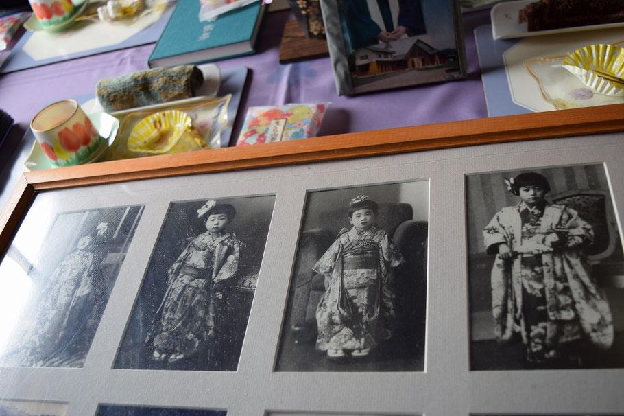 詳細は本文の下の方でと思いますが、ダレが誰なのかな? 光子さんと三人のお嬢さんのお写真です。