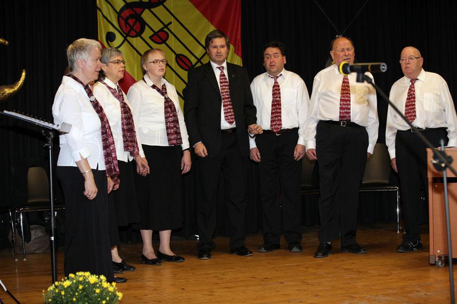 von links nach rechts:   Irene Frei, Therese Scheidegger, Lisbeth Käser, Manfred Grotzki, Martin Zingre, Hans-Ueli Willi und René Scheidegger