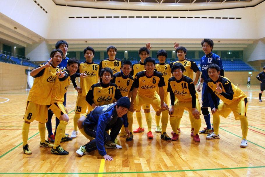 2016年2月13日に神奈川県立体育センターで開催された「神奈川招待フットサル選抜大会」に出場した千葉県U23選抜チーム
