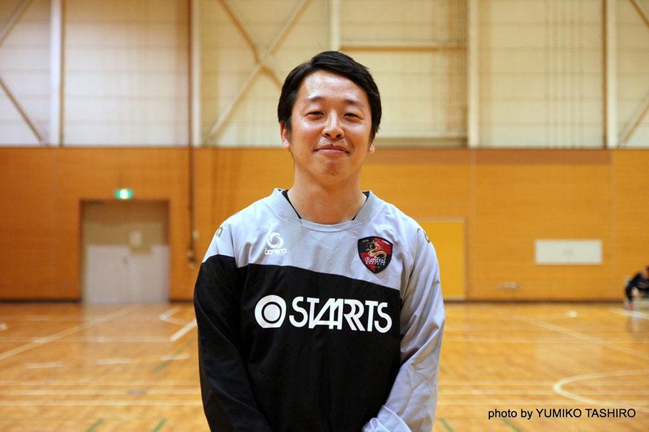 千葉県U23選抜・二見一輝コーチ バルドラール浦安テルセーロの監督、セグンドではコーチを務めている。