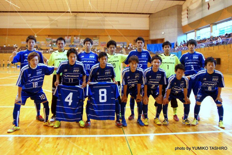 第30回全国選抜フットサル大会 福岡県選抜   前列左、18番が銀島選手