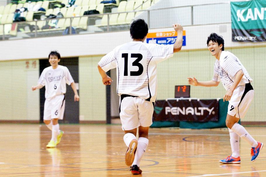 神奈川との関東大会決勝、前半5分に先制点を決めた東京都選抜13番・工藤敦史選手!
