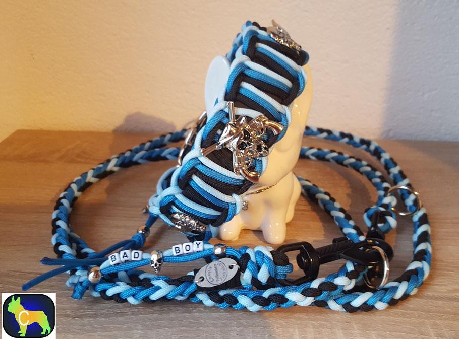 Biothane Halsband, Paracord Halsband, Hundeset, Paracord Set, Biothane Set, Hundeleine, Hundehalsband