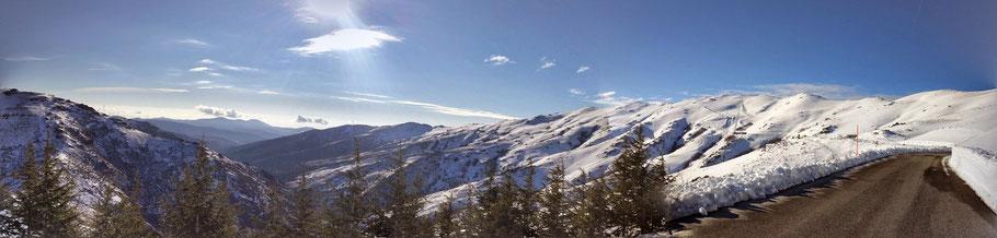 Skifahren auf Sardinien am Bruncu Spina