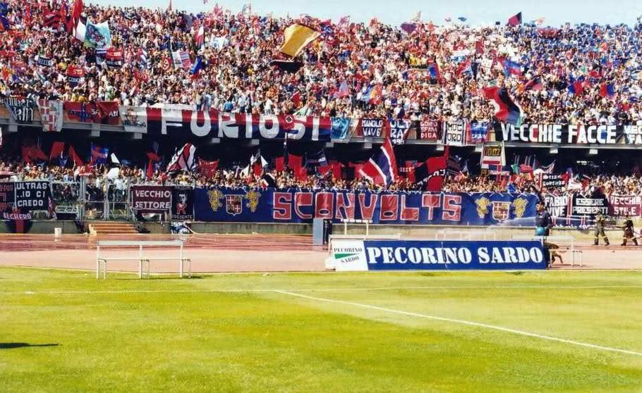 Ultras Tifo Sconvolts Furiosi Cagliari Calcio Fans