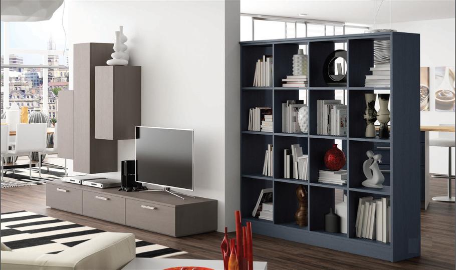 Meuble Télévision et Bibliothèque personnalisée. Cuisine Home Concept réalise tout type d'agencement à la demande. Visualisation des projets à partir d'un logiciel 3D et chiffrage détaillé (service d'installation et de pose possible).