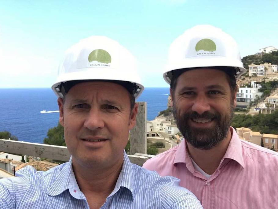 Christoph Albeck und Hanno Strack, Geschäftsführer von Cala Pi Homes auf Mallorca