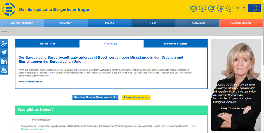 Obmutsfrau EU-Kommission
