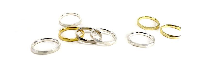 Lovestory ringe in Silber, Gold