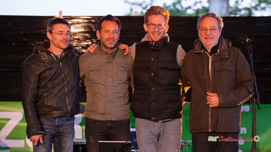 Christophe Maroye Quartet : Xavier Duprat, claviers; Didier Ottaviani, batterie; Christophe Maroye, guitare; Marc Vullo, basse. M.A.S. L'ADAPT, Camblanes-et-Meynac. Vendredi 17 mai 2019.