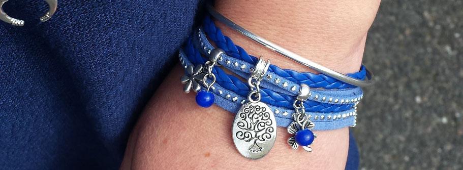 Découvrez les derniers bracelets deux tours Manoléo Fantaisies. Des bracelets faits main, des créations originales, colorées grâce à des mélanges de matières, de couleurs et de motifs originaux. Vous allez craquer pour ces bracelets manchettes, c'est sûr