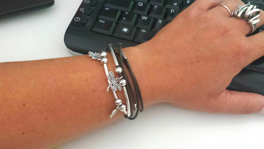 Le bracelet transformable en collier et personnalisable manoléo Fantaisies fait main en France