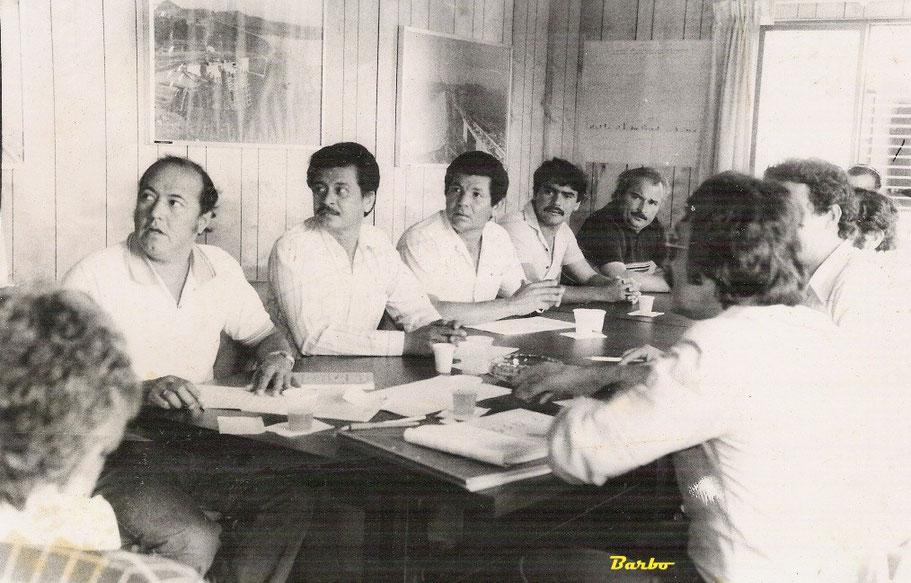 1983 - Uribante - Venezuela - Reunión con los sindicatos