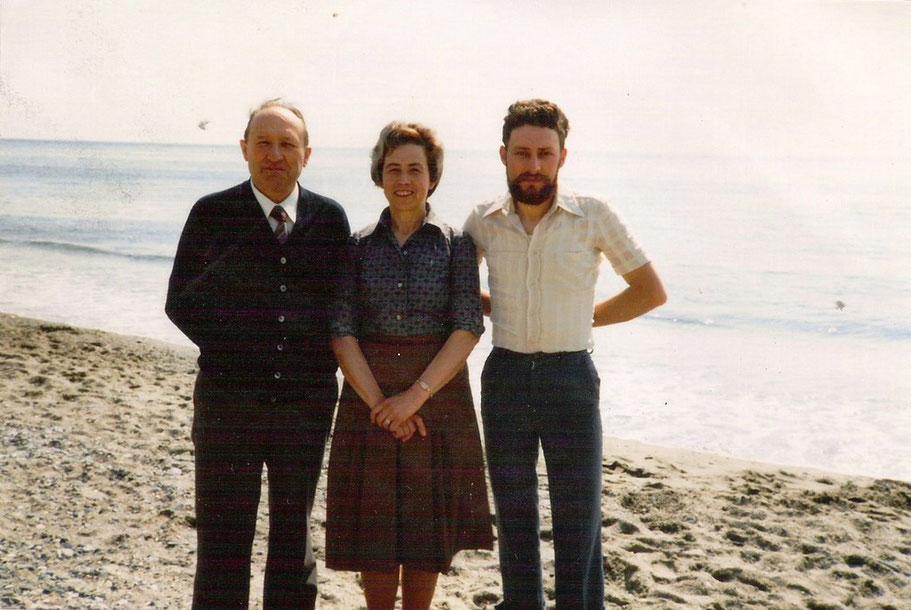 papà, mamma e mio fratello