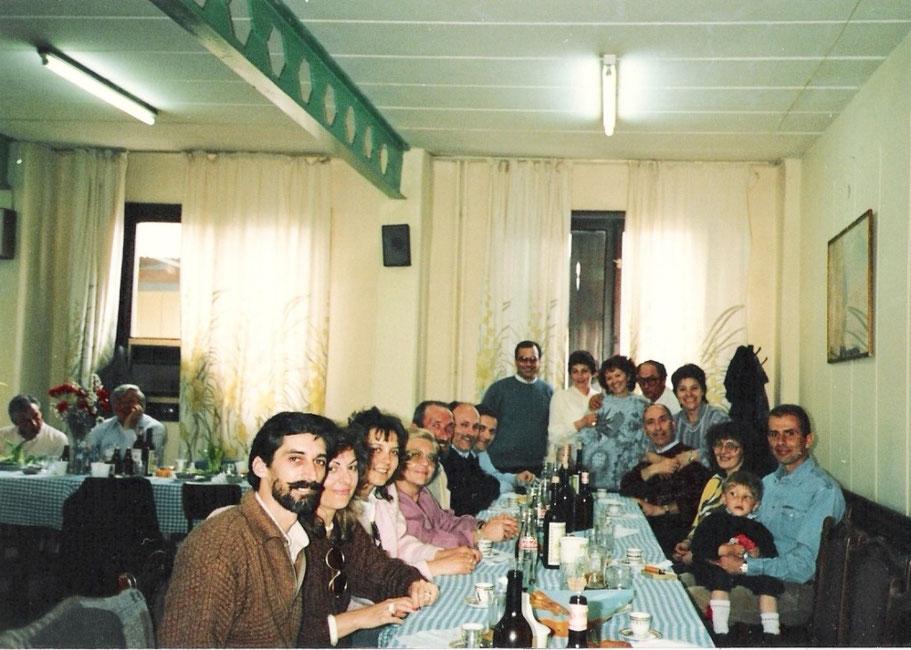 Metà anni '80 - Pranzo ufficiale in mensa - Cito solo l'ing Silvio Gennari, eccellente Project Manager.