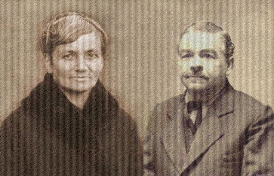 Nonna Carolina Camaschella e nonno Cesare Calderini