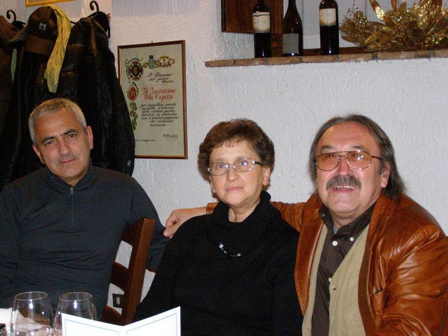 Da sinistra: Claudio Rossattini, Chiara Crapella, io