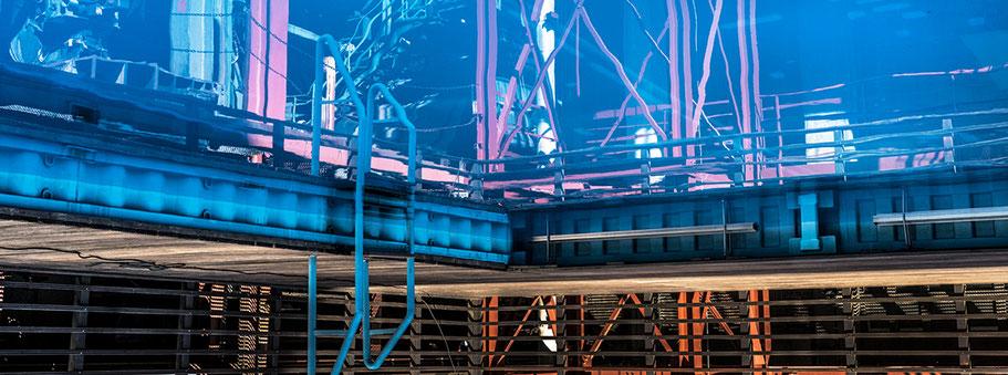 Zeche Zollverein in Essen als Farbphoto im Panorama-Format