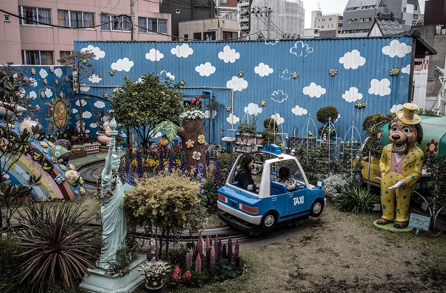 Hanayashiki Kinderpark in Tokyo, Japan als Farbphoto