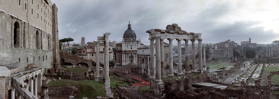 Farbphoto vom Forum Romanum in Rom im Panorama-Format