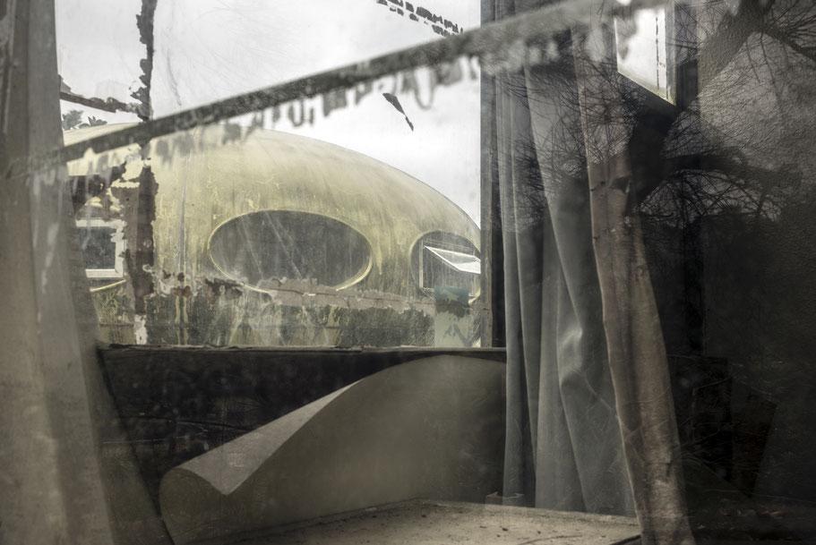 Futuro Haus, Moderne Architektur von Matti Suuronen , Finnland, als Farbphoto