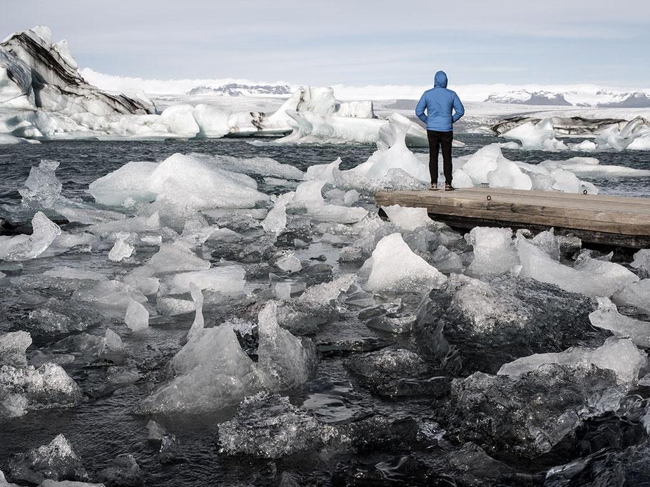 Gletscherlagune in Jökulsárlón als Farb-Photographie, Island/Iceland