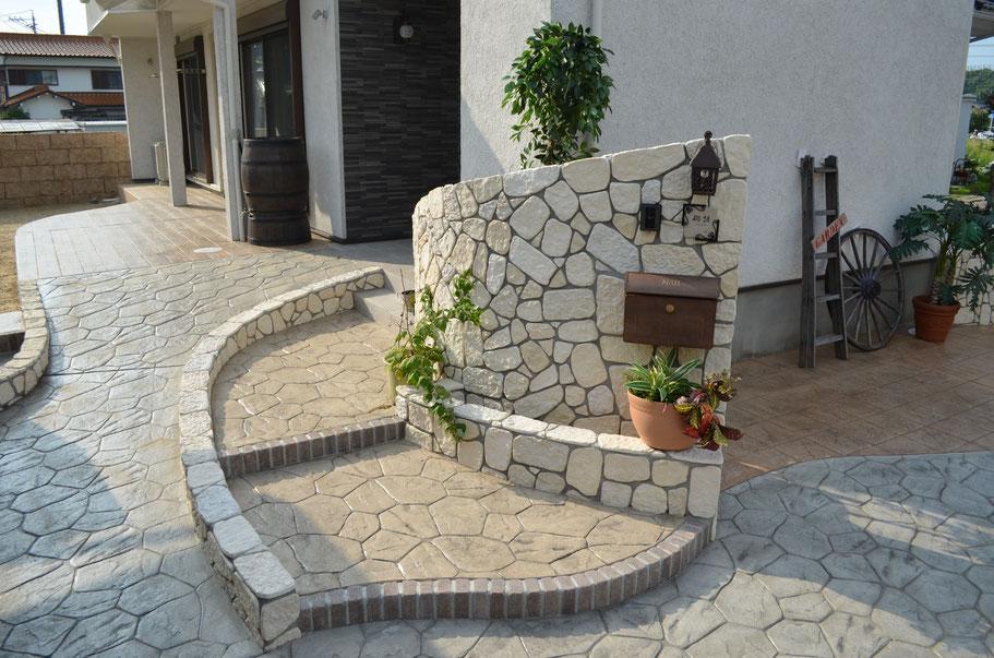 デザインコンクリートスタンプコンクリートファンタジーコンクリートステンシルコンクリートモルタル造形お洒落おしゃれ