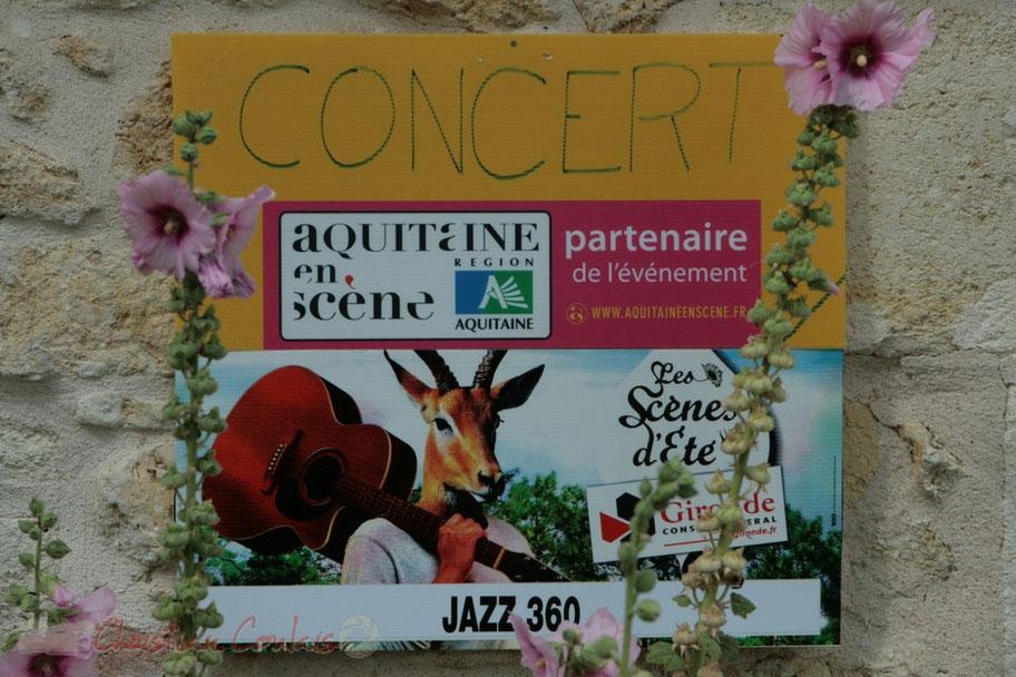 Aquitaine en scène et Les scènes d'été Gironde, partenaires du Festival JAZZ360 2011, Festival intercommunal sur Cénac et Quinsac