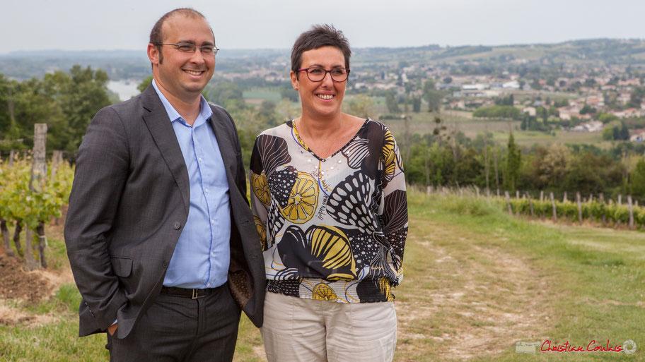 Christophe Miqueu, candidat aux élections législatives 2017, Nathalie Chollon-Dulong, suppléante, 12ème circonscription de la Gironde