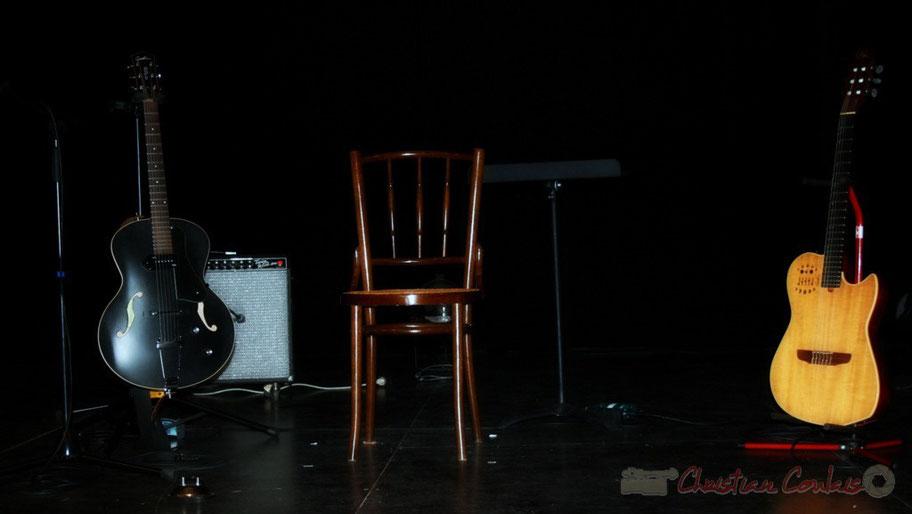Les deux guitares de Sylvain Luc, concert du Festival JAZZ360 2010, salle culturelle de Cénac, samedi 15 mai 2010