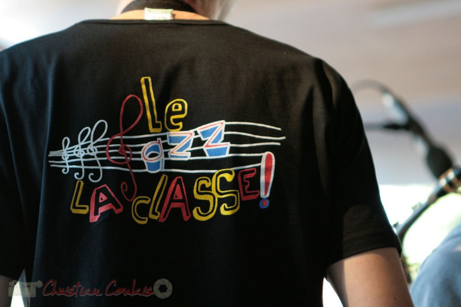 T-shirt du Big Band Jazz du Collège Eléonore de Provence, Monségur, promotion 2011. Festival JAZZ360 2011, Cénac. 01/06/2011