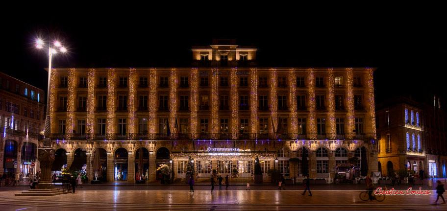 Bordeaux, place de la Comédie & Intercontinental Bordeaux le Grand Hôtel. Mercredi 16 décmbre 2020. Photographie © Christian Coulais