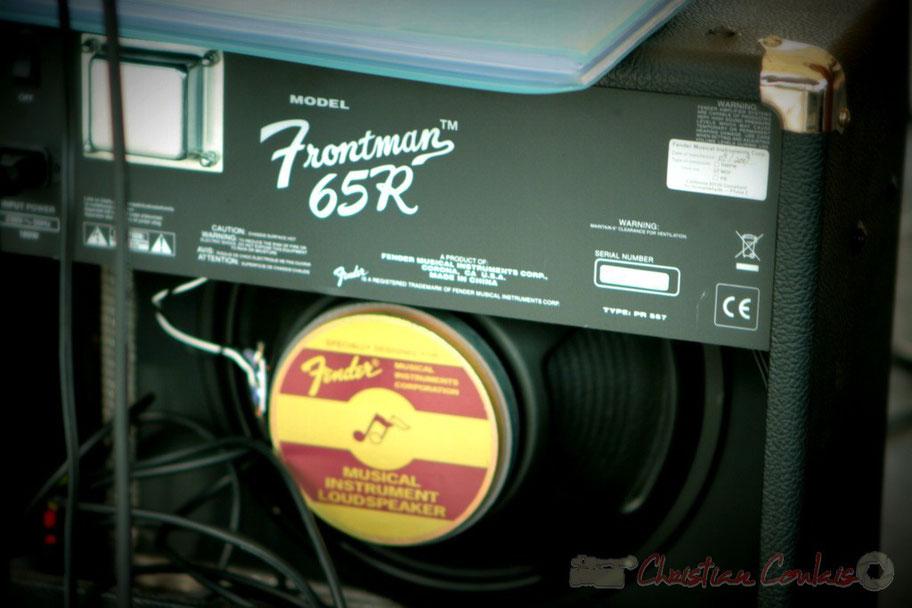Amplificateur Fender Frontman 65R, combo à transistors pour guitare. Festival JAZZ360 2011, Cénac. 04/06/2011