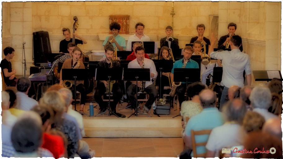 Big Band Jazz du Conservatoire Jacques Thibaud de Bordeaux, dirigé par Mathieu Marot. Festival JAZZ360 2018, Cénac. Samedi 9 juin 2018