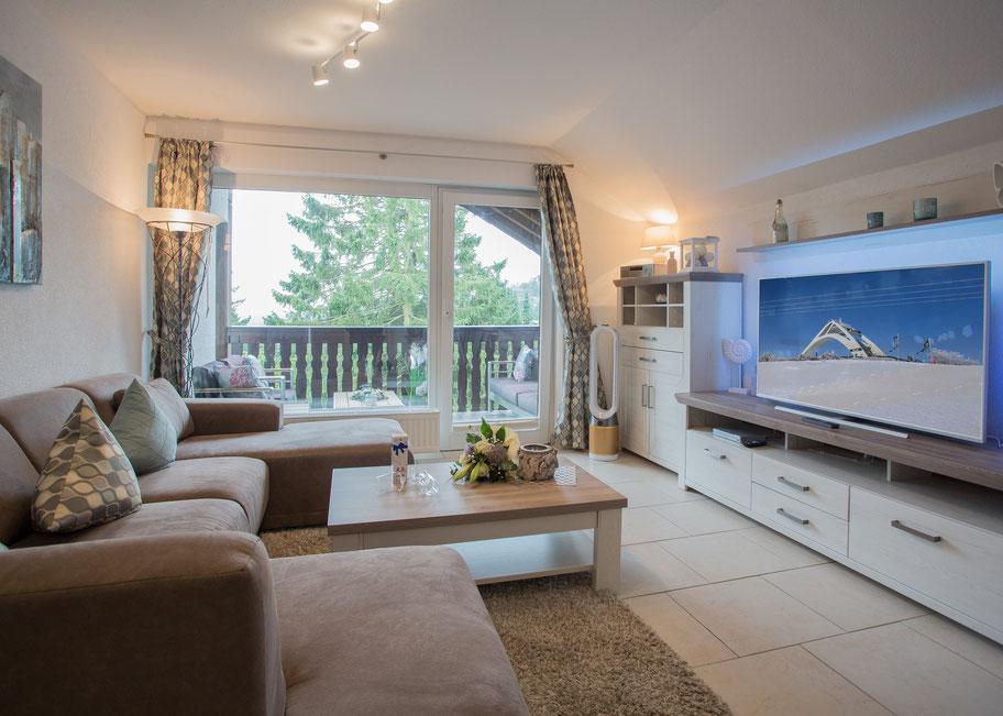 Wohnzimmer - Ferienwohnung Kappeblick in Winterberg