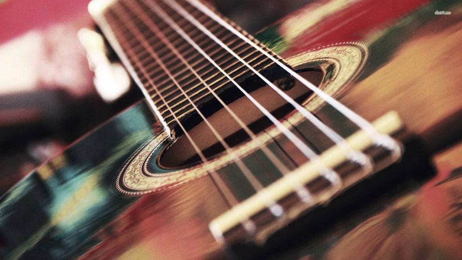macro chitarra acustica
