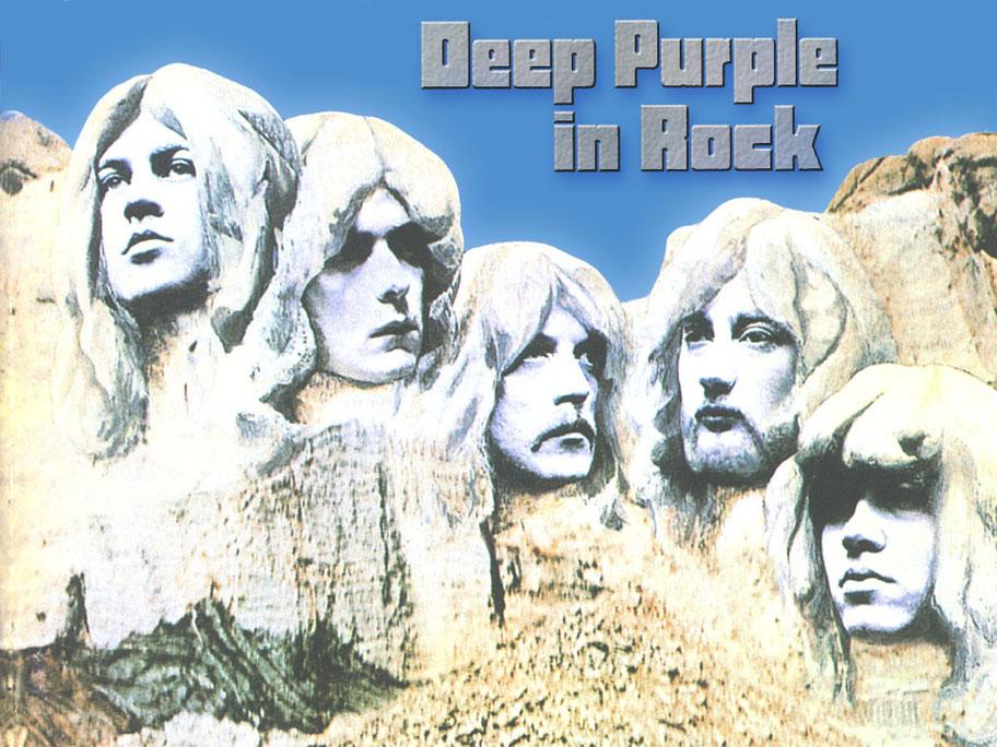 formazione deep purple scolpita nella roccia