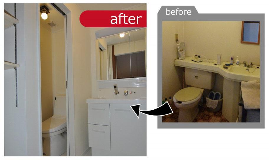 衛生環境を考慮してトイレと洗面所は分離しました