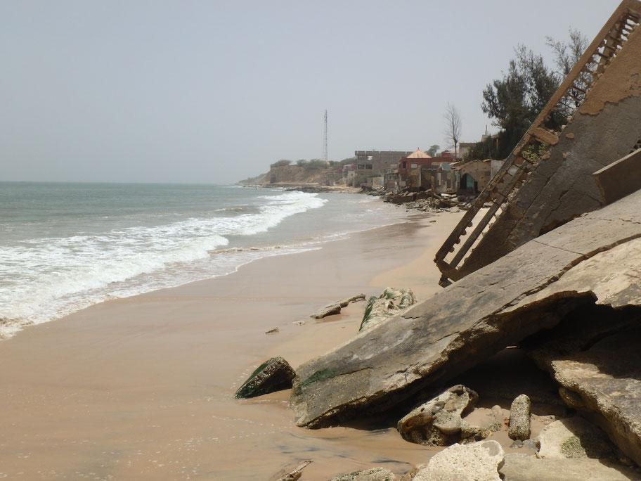 Popenguine erosion Senegal