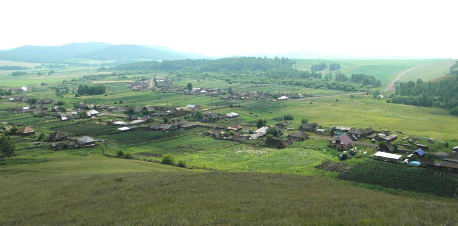 Село Мензот август 2014 года